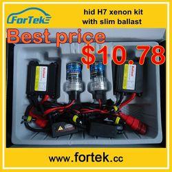 xenon hid headlight kit slim ballast h7 6000k 35w 12V China factory price,Large stock