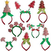 Novos produtos bonito árvores partido headband decoração de natal