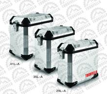 Motorcycl side box 41L/35L/29L for any types of motorcycle,Silver
