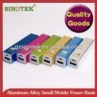 SINOTEK 2600mah tube power bank external+charger+battery
