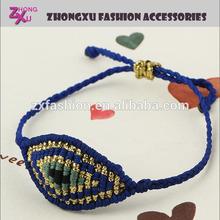 latest beautiful friendship weave evil eye bracelet