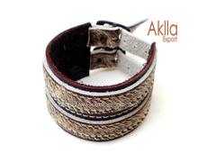 Goatskin Leather Handmade Bracelet Bangles