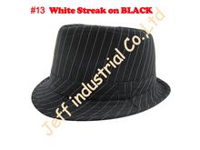 Fashion Design White Streak on Black Fedora Hats Wholesale Cotton Baby Hats Fancy Hats Children Exquisite Caps for Baby