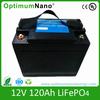 12V 120AH LiFePO4 battery for solar power energy storage UPS