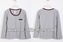 2014 women compressed o-neck t shirt