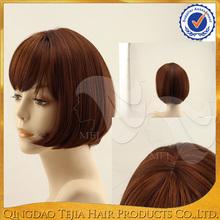 China factory red color Japanese kanekalon fiber short bob synthetic short wigs for black women