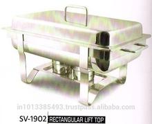 Rectangular lift top chaffing dish SS chaffing dish food warmer