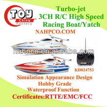 High-speed Turbo-jet 3CH R/C Yatch/Racing Boat