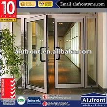 Aluminiun Glass Commercial Shop Front Entry Door