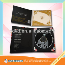2014 high quality music cd replication with 4 panel digipak packing