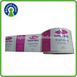 Waterproof adhesive print CMYK color cosmetic labels