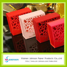 Die cut hollow-carved wedding candy box wholesale gift boxes