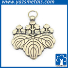 Charming artistic metal heart leaf pendant charms
