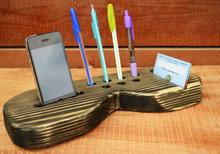 Desk Organizer Handmade Wood organizer Office Organizer Mobile Phone Dock Phone Stand
