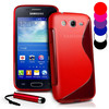 S Line Wave Gel Case Cover For Samsung Galaxy Ace 3 S7272+ Film + Stylus