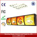 led menu board / menu light box / restaurant light box signs