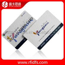PVC blank rfid chip credit ic/id magnetic smart card