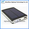HIGHWAY solar charger black external battery case power bank extender for samsung