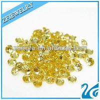 round brilliant cut yellow 1mm stone cz