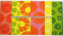 100% cotton purple yellow orange green Tropical Fruit beach towel