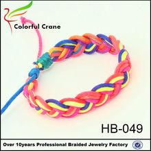 fashion style colorful cross woven sunrise macrame bracelet wholesale