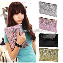 cheap satin women wallet Sparkle Spangle clutch purse evening bags
