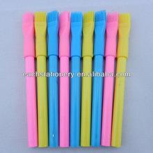 "3.5""multi color wooden funny pencil with plastic cap brush"