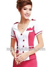Casual bar bartender uniform/bar bartender uniform/bar waitress uniforms