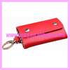 Topsale Red 6 Hooks Genuine Leather Key Cover AAKB-1405