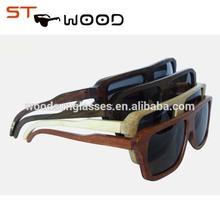 cheap wayfarer bamboo temple ,pc frame sunglasses with polarized lens