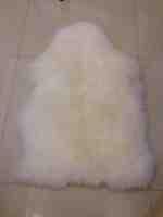 mixed color sheep fur rug 14E03