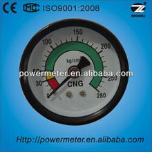 50mm dry type bourdon tube back mounting cng pressure gauges manometer for sale