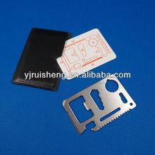 Stainless Steel Multifunction Pocket Emergency Survival Card Tools