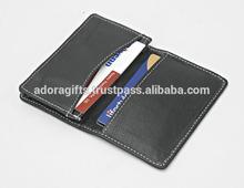 Handmade PU Leather Credit Card Case / Credit Card Holder / Promotional Leather Credit Card Case