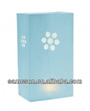2014 New designed fire-retardant paper candle bags in paper crafts
