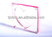 magnetic acrylic heart-shape photo Frame / Acrylic Holder wholesale