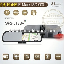 "car rearview mirror holder with DVR Camera,BT,MP5,FM Transmitter,5""Capacitive Panel"