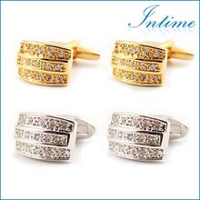 2014 new crystal cufflinks latest wedding jewelry set