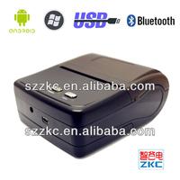 58mm mini portable bluetooth printer High speed receipt printer(ZKC 5801) for ourdoor envirment