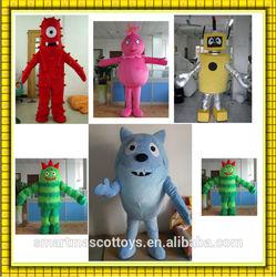 new design the most popular adult yo gabba gabba mascot costumes