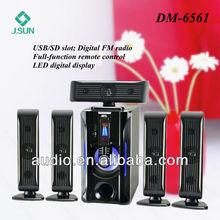 Modelos quente 5.1 falantes sem fio surround home theater DM6561