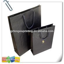 Strong Black Handle Kraft Paper Bag