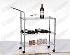 Storage metal Shelving cart\chromeplate display rack \storage trolley
