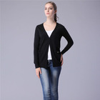 2014 fashion lady long sleeve black sweater knit cardigan