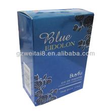decent and deluxe blue 30ml Eau De perfume RTE style carton box,Eau De toilette carton box packaging