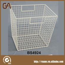 Metal Wire Cube Bin