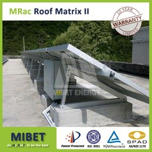 Concrete Base Flat Roof/ Rooftop solar panel mounting -- MRac Roof Matrix 2