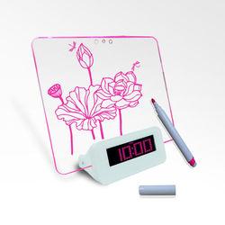 magnetic lcd cube desk clock