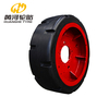 Strong traction Solid mining car rubber wheels for Underground Mining Huanghe Produced