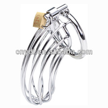 Hollow out the silver stainless steel male chastity belt